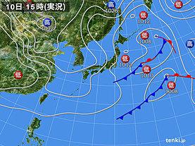 実況天気図(2020年04月10日)