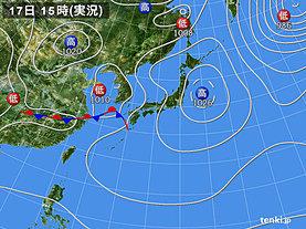 実況天気図(2020年04月17日)