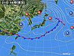 2020年04月21日の実況天気図