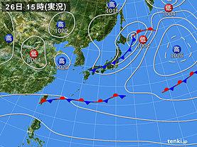 実況天気図(2020年04月26日)