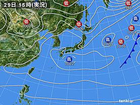 実況天気図(2020年04月29日)