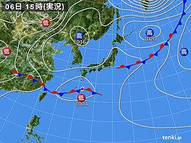 実況天気図(2020年05月06日)