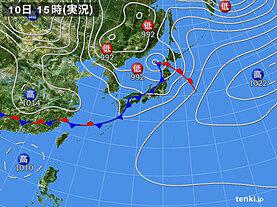 実況天気図(2020年05月10日)