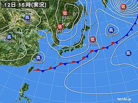 実況天気図(2020年05月12日)