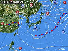 実況天気図(2020年05月14日)