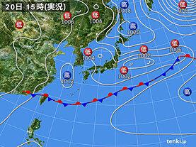 実況天気図(2020年05月20日)