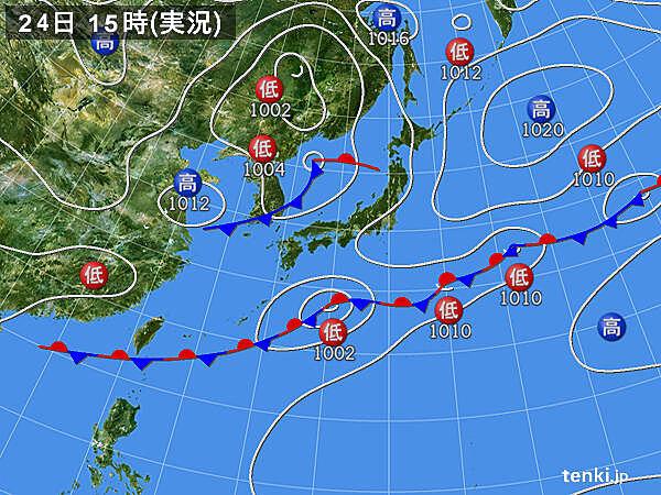 実況天気図(2020年05月24日)