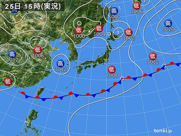 実況天気図(2020年05月25日)