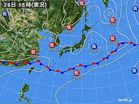 実況天気図(2020年05月26日)