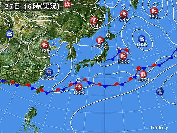 実況天気図(2020年05月27日)