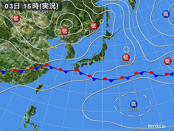 実況天気図(2020年06月03日)