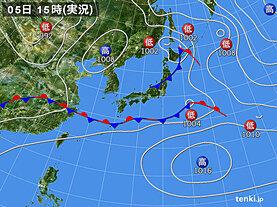 実況天気図(2020年06月05日)