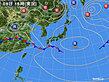 2020年06月09日の実況天気図