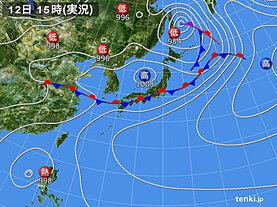 実況天気図(2020年06月12日)
