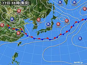 実況天気図(2020年06月17日)