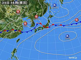 実況天気図(2020年06月25日)