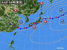 実況天気図(2020年07月04日)