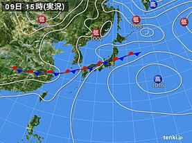 実況天気図(2020年07月09日)