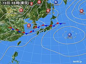 実況天気図(2020年07月10日)