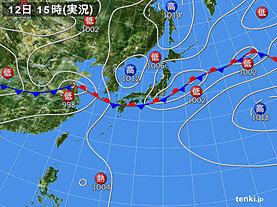 実況天気図(2020年07月12日)