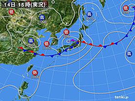 実況天気図(2020年07月14日)
