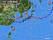 2020年07月14日の実況天気図