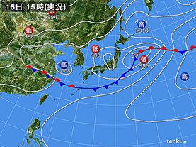 実況天気図(2020年07月15日)