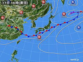 実況天気図(2020年07月17日)