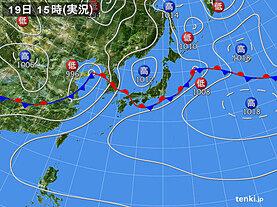 実況天気図(2020年07月19日)