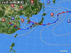 実況天気図(2020年07月24日)