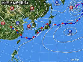 実況天気図(2020年07月25日)