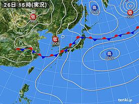 実況天気図(2020年07月26日)