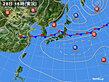 2020年07月28日の実況天気図