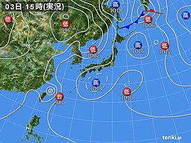 実況天気図(2020年08月03日)
