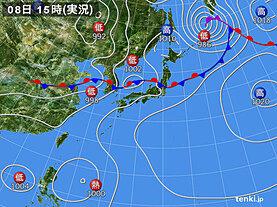 実況天気図(2020年08月08日)