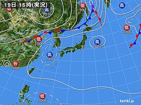 実況天気図(2020年08月19日)