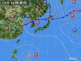 実況天気図(2020年08月29日)