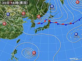 実況天気図(2020年08月30日)