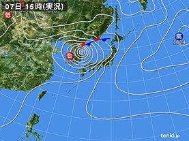 実況天気図(2020年09月07日)