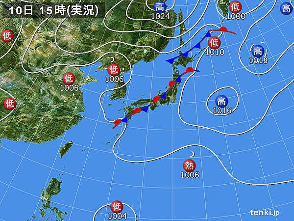 実況天気図(2020年09月10日)