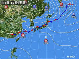 実況天気図(2020年09月11日)