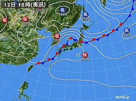 実況天気図(2020年09月12日)