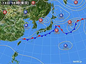 実況天気図(2020年09月14日)