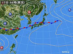 実況天気図(2020年09月17日)