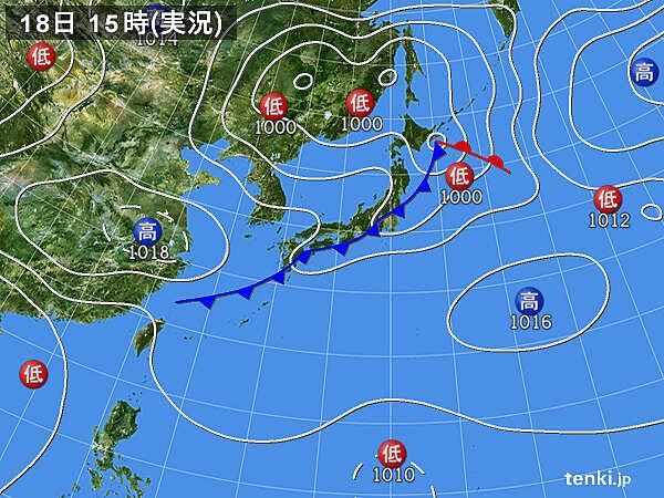 実況天気図(2020年09月18日)