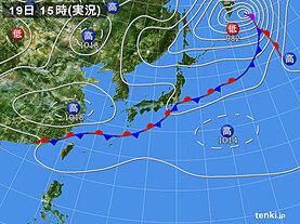 実況天気図(2020年09月19日)