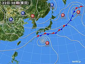 実況天気図(2020年09月22日)