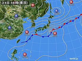 実況天気図(2020年09月24日)