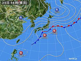 実況天気図(2020年09月25日)