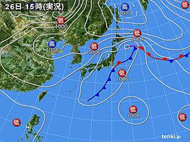 実況天気図(2020年09月26日)